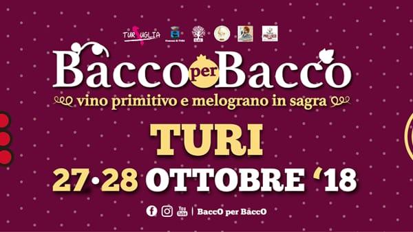 Bacco per Bacco 2018: a Turi Vino Primitivo e Melograno in sagra