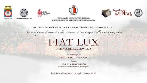 """Al Teatro Margherita di Bari la mostra fotografica """"Fiat Lux. L'Istante della Meraviglia"""""""