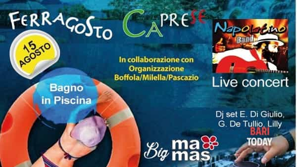 Ferragosto caprese e pool party