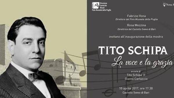 """Al Castello Svevo di Bari la mostra dedicata al celebre tenore Tito Schipa """"La voce e la grazia"""""""