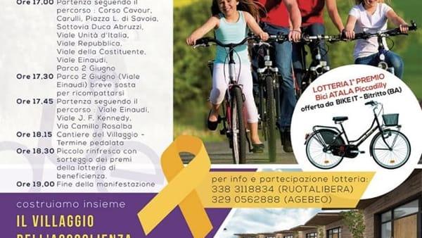 'Due ruote per la vita', la pedalata cittadina per le vie di Bari