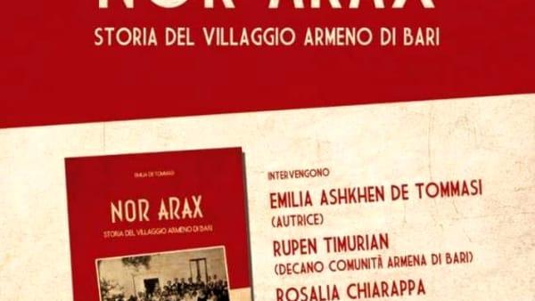 """Nel Palazzo di Città la presentazione del libro """"Nor Arax Storia del villaggio armeno di Bari"""""""