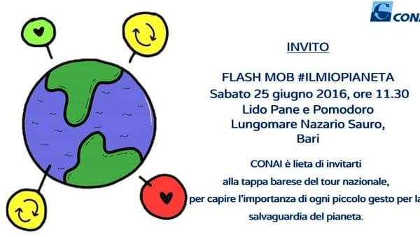 """Flash Mob: """"il mio pianeta"""" presso il Lungomare Nazario Sauro di Bari"""