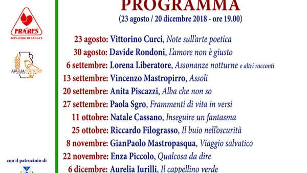 """La poetessa anita Piscazzi a """"Cassano d'autore per infinito200"""""""