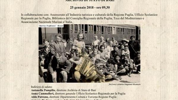 """A Bari il Giorno della memoria: seminario """"Leggi razziali, campi d'internamento e campi profughi in Puglia 1938/1950"""""""