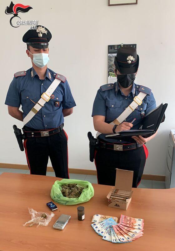 Marijuana in auto ed hashish a casa: due fratelli arrestati per spaccio nel Barese