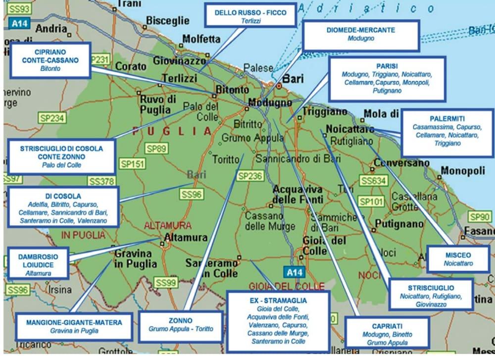 Cartina Puglia Molfetta.Bari La Mappa Dei Clan Che Si Spartiscono Gli Affari In Citta