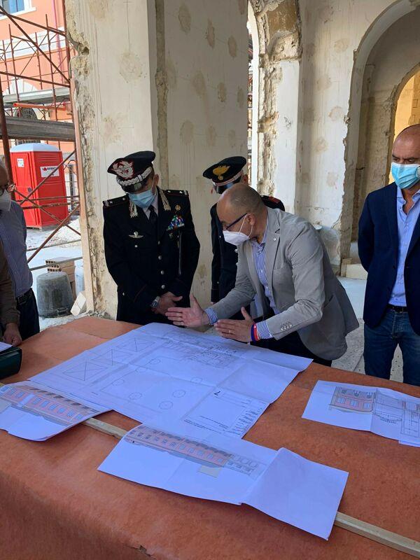 La Caserma dei carabinieri nell'ex Manifattura Tabacchi prende forma: